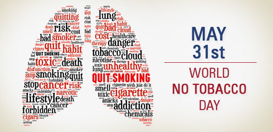 Promise yourself the gift of good health - May 31st - World No Tobacco Day